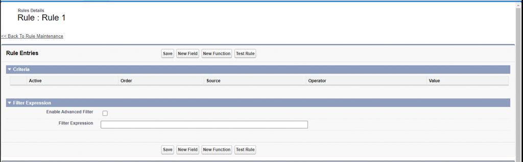 Screenshot of a default BREeze Rule Detail